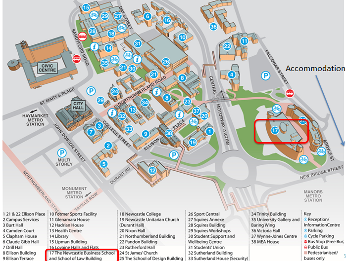 IWMW 2014 annotated map