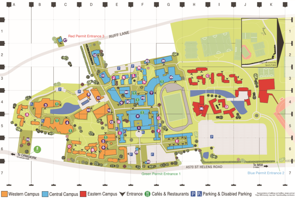 edge hill campus map