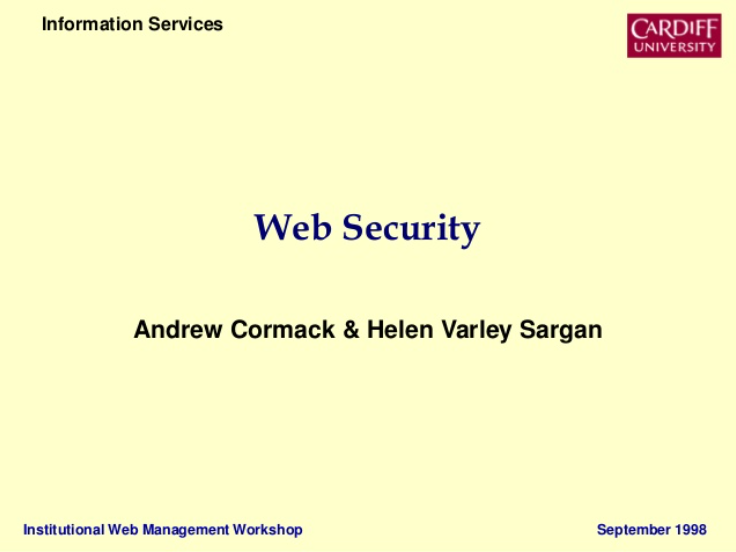 Web Security: More Important Than Ever!