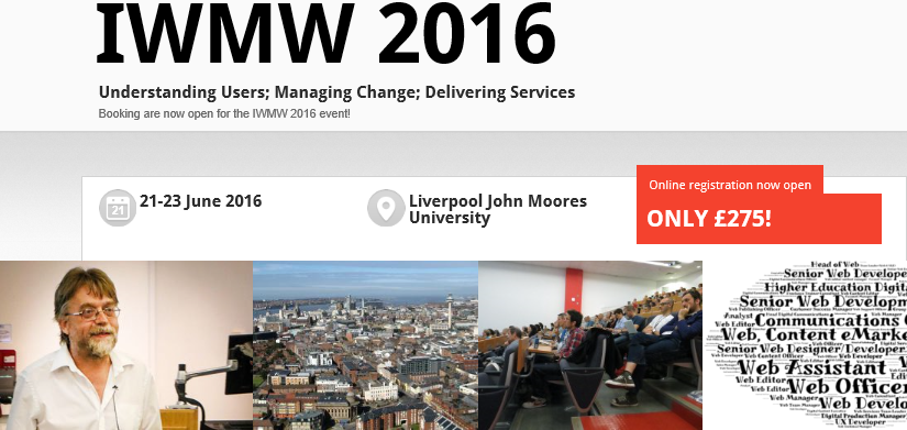IWMW 2016 Now Open For Bookings!