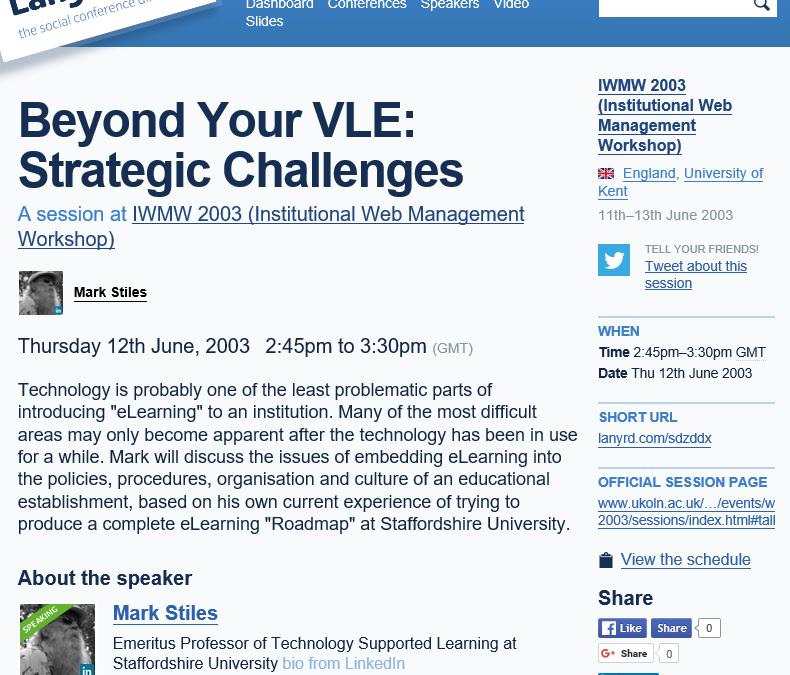 Beyond Your VLE: Strategic Challenges
