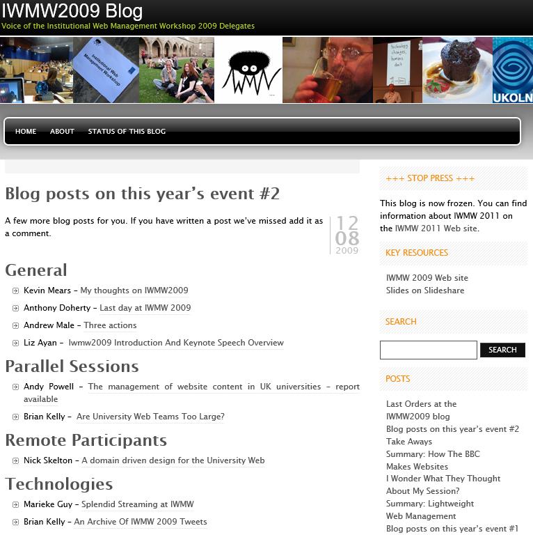 IWMW-2009-blog